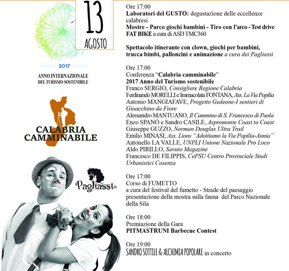 CALABRIA CAMMINABILE – 2017 ANNO INTERNAZIONALE
