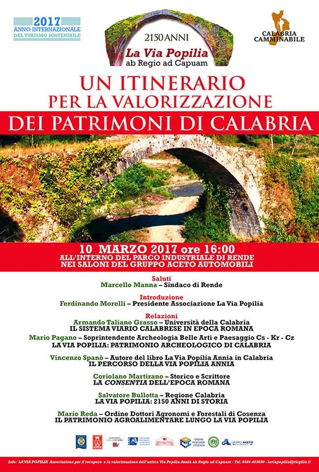La Via Popilia: Un itinerario per la valorizzazione dei patrimoni di Calabria